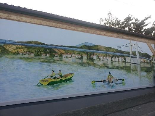 Une jolie fresque inaugurée en 2014.